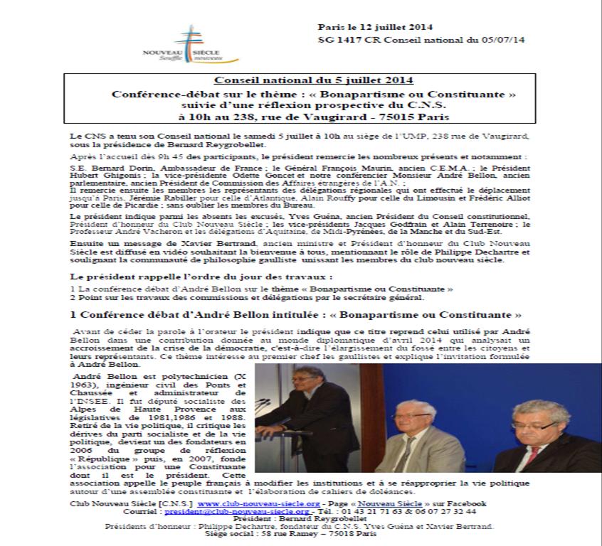 PV Conseil National 5 juillet 2014